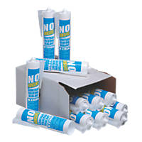No Nonsense  Sanitary Silicone White 310ml 12 Pack
