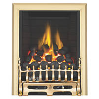 Focal Point Blenheim Brass Rotary Control Inset Gas Full Depth Fire