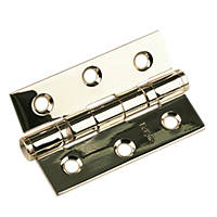 Eclipse Electro Brass Grade 7 Fire Rated Ball Bearing Hinge 76 x 51mm 2 Pack