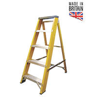 Lyte Fibreglass 5-Treads Swingback Stepladder 990mm