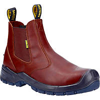 Amblers AS307C Metal Free  Safety Dealer Boots Brown Size 8