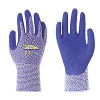 Towa AirexDry Nitrile-Coated Gloves Blue/White Medium