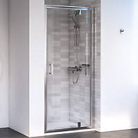 Aqualux Edge 6 Pivot Shower Door Polished Silver 900 x 1900mm