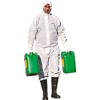 "Delta Plus DT215 Type 5/6 Disposable Coverall White X Large 42-45"" Chest 31"" L"