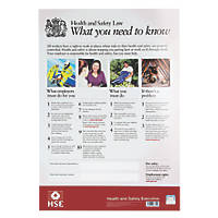 Health and Safety Poster 420 x 297mm