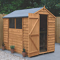 Forest  5' x 7' (Nominal) Apex Overlap Timber Shed with Base