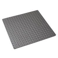 Mottez  Shock-Absorbing Floor Mat Grey 620 x 620mm
