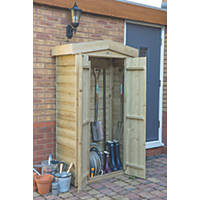 "Forest 3 '6"" x 1 '8"" (Nominal) Apex Overlap Timber Garden Store"