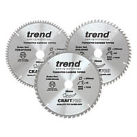Trend TCT Circular Saw Blades 250 x 30mm 48, 60 & 84T 3 Pack