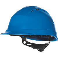 Delta Plus Quartz Up 4 Vented Rotor Wheel Ratchet Safety Helmet Blue