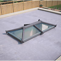 ATT Fabrications Ltd Clear Glass Roof Lantern Grey 2000 x 1000mm