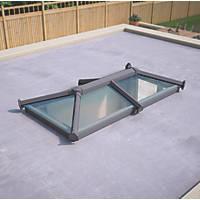 ATT Fabrications Ltd Transparent Glass Roof Lantern Grey 2000 x 1000mm