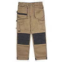 "DeWalt Pro Tradesman Work Trousers Tan 36"" W 31"" L"
