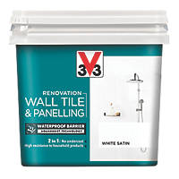 V33 Wall Tile & Panelling Paint Satin White 750ml