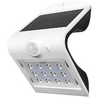 Luceco  LED Solar Wall Light With PIR Sensor White