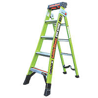 Little Giant 2-Section 3-Way Fibreglass & Aluminium 3-in-1 Extension Ladder  2.6m