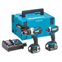 Makita DLX2145TJ 18V 5.0Ah Li-Ion LXT  Cordless Combi Drill & Impact Driver Twin Pack