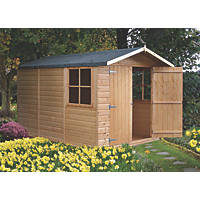"Shire Guernsey 9' 6"" x 6' 6"" (Nominal) Apex Shiplap T&G Timber Shed"