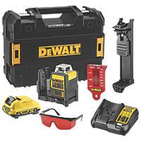 DeWalt DCE0811D1R-GB 12V 2.0Ah Li-Ion XR Red Self-Levelling Multi-Line Laser Level