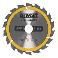 DeWalt Circular Saw Blade  190 x 30mm 18T