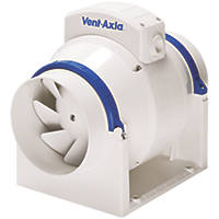 Vent-Axia ACM200T 110W In-Line Mixed Flow Fan with Timer
