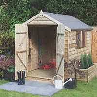 Forest 6' x 8' (Nominal) Apex Overlap Timber Shed with Base