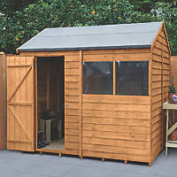 Forest  8' x 6' (Nominal) Reverse Apex Overlap Timber Shed with Assembly