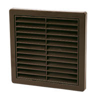 Manrose Fixed Louvre Vent Brown 125 x 125mm