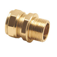 Pegler PX42 Brass Compression Adapting Male Coupler 28mm x 1""