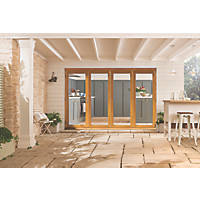 Jeld-Wen Kinsley 4-Door Satin Stained Golden Oak Wooden Slide & Fold Patio Door Set 2094 x 2994mm