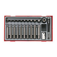 "Teng Tools TTTX23 1/2"" Drive TX Bit Metric Socket Set. 23 Pieces"