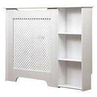 Victorian Radiator Cabinet w/ End Shelf White 1135 x 190 x 868mm