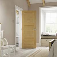 Jeld-Wen  Unfinished Oak Veneer Wooden Ladder Internal Door 1981 x 762mm