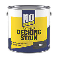 No Nonsense Anti-Slip Quick-Drying Decking Stain Ash 2.5Ltr