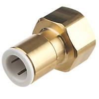 "Flomasta SBFA6765M Brass Push-Fit Adapting Female Coupler Pipe Fitting Adaptor 15mm x ¾"""
