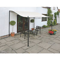 Greenhurst 4368 Patio Gazebo Cream 3 x 2.5 x 2.6m