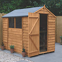 Forest  5' x 7' (Nominal) Apex Overlap Timber Shed with Assembly