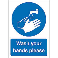 """Wash Your Hands Please"" Sign 210 x 148mm"