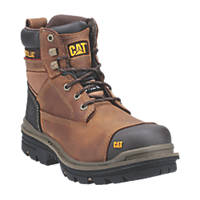"CAT Gravel 6""   Safety Boots Beige Size 8"