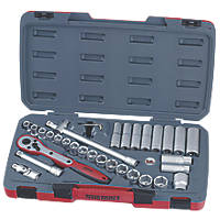 "Teng Tools T1234 1/2"" Drive Socket Set 34 Pieces"