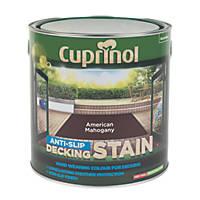 Cuprinol Anti-Slip Decking Stain American Mahogany 2.5Ltr