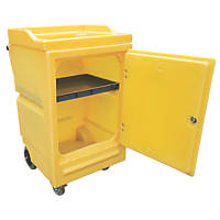 Yellow Polyethylene Work Cart with Lockable Door