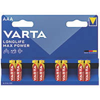 Varta Longlife Max Power AAA Batteries 8 Pack
