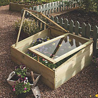 Rowlinson Rectangular Coldframe Natural Timber 1020 x 810 x 380mm