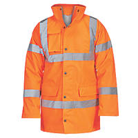 "Hi-Vis Traffic Jacket Orange XX Large 60"" Chest"