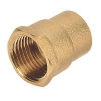 "Flomasta SFU_0635 Brass End Feed Equal Female Coupler 15mm x ½"""