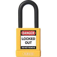 Abus Aluminium Keyed-Alike Lock-Off Padlock Yellow 19 x 38mm