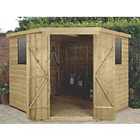 Forest  11' x 9' (Nominal) Flat Overlap Timber Shed with Assembly
