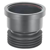 McAlpine Push-Fit Single Socket Drain Connector Black 110mm