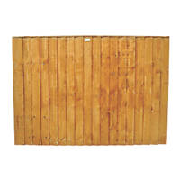 Forest Feather Edge Fence Panels 1.82 x 1.2m 4 Pack